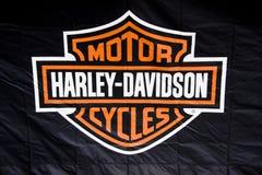 De Vrachtwagen van Davidson Buell van Harley in Genua Stock Afbeeldingen