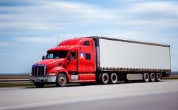 De vrachtwagen van de aanhangwagen Stock Foto