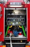 De vrachtwagen van de brand Stock Fotografie