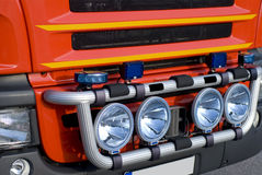 De vrachtwagen van de brand royalty-vrije stock afbeeldingen