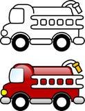 De Vrachtwagen van de brand Royalty-vrije Stock Foto's