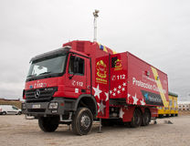 De vrachtwagen van de brand stock afbeelding