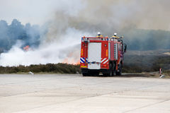 De vrachtwagen van de brand in actie Royalty-vrije Stock Afbeelding