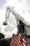 De vrachtwagen van de brand op stormloop Royalty-vrije Stock Foto's
