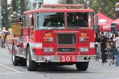De vrachtwagen van de brand op stormloop Royalty-vrije Stock Fotografie