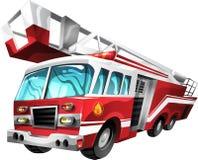 De Vrachtwagen van de Brand van het beeldverhaal Stock Afbeelding