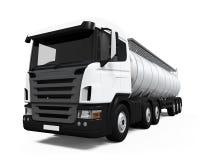 De vrachtwagen van de brandstoftanker Stock Afbeelding