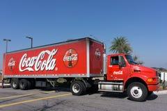 De Vrachtwagen van de coca-cola Stock Afbeeldingen
