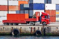 De vrachtwagen van de container Royalty-vrije Stock Foto's