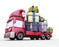 De vrachtwagen van de Kerstman stock illustratie