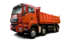 De Vrachtwagen van de kipwagen Stock Foto