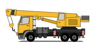De vrachtwagen van de kraan   Stock Fotografie