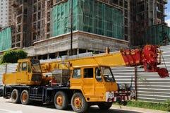 De vrachtwagen van de kraan Royalty-vrije Stock Foto's