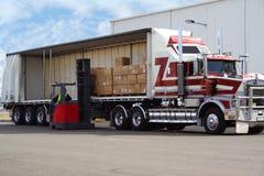 De vrachtwagen van de lading Royalty-vrije Stock Foto's