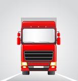 De vrachtwagen van de levering op de weg Royalty-vrije Stock Afbeelding