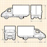 De Vrachtwagen van de leveringslading Stock Fotografie