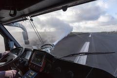 De vrachtwagen van de luchthavenbrand Stock Fotografie