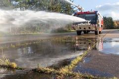 De vrachtwagen van de luchthavenbrand Royalty-vrije Stock Foto's