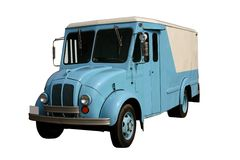 De Vrachtwagen van de melk Stock Foto