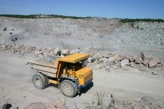 De vrachtwagen van de mijnbouw Royalty-vrije Stock Afbeeldingen