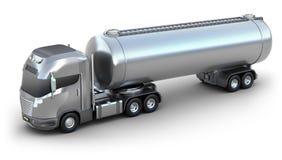 De vrachtwagen van de Olietanker. Geïsoleerdw 3D beeld Royalty-vrije Stock Afbeelding