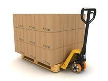 De vrachtwagen van de pallet Stock Afbeeldingen