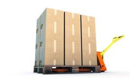 De vrachtwagen van de pallet Stock Afbeelding