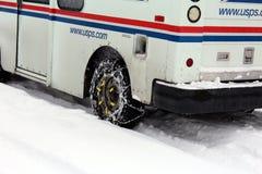 De vrachtwagen van de post Stock Afbeelding
