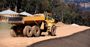 De Vrachtwagen van de stortplaats royalty-vrije stock afbeeldingen