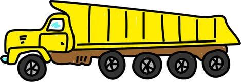 De vrachtwagen van de stortplaats vector illustratie