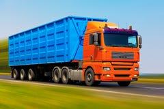 De vrachtwagen van de vracht Stock Afbeeldingen