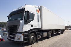 De vrachtwagen van de vracht royalty-vrije stock afbeelding