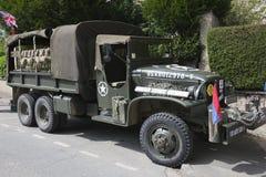 De vrachtwagen van GMC CCKW op vertoning Stock Foto's