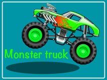 De Vrachtwagen van het beeldverhaalmonster stock illustratie