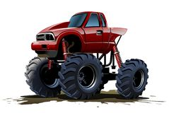 De Vrachtwagen van het beeldverhaalmonster Stock Afbeelding