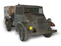 De Vrachtwagen van het leger op Wit royalty-vrije stock afbeeldingen