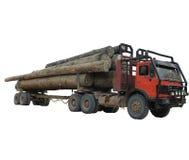 De vrachtwagen van het logboek Stock Foto