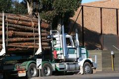 De vrachtwagen van het logboek Royalty-vrije Stock Foto's