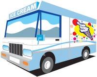 De vrachtwagen van het roomijs Royalty-vrije Stock Afbeeldingen
