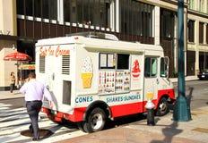 De Vrachtwagen van het roomijs Stock Fotografie