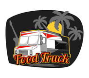 De Vrachtwagen van het strandvoedsel Stock Foto's