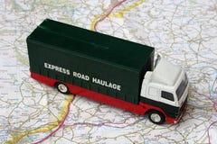 De vrachtwagen van het stuk speelgoed stock foto's