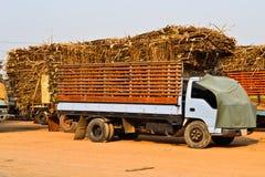 De Vrachtwagen van het suikerriet in Thailand Royalty-vrije Stock Afbeeldingen