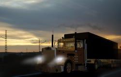 De vrachtwagen van het vervoer stock illustratie