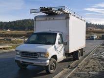 De Vrachtwagen van het werk Stock Afbeelding