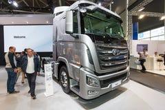 De Vrachtwagen van Hyundai Xcient Stock Afbeeldingen