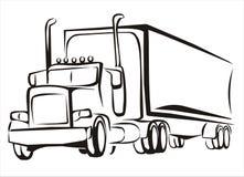 De vrachtwagen, vrachtwagen, iosolated illustratie Royalty-vrije Stock Afbeeldingen