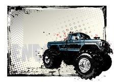 De vrachtwagenaffiche van het monster vector illustratie