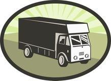 De vrachtwagenbestelwagen van de levering Stock Fotografie