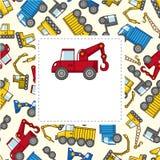 De vrachtwagenkaart van het beeldverhaal royalty-vrije illustratie